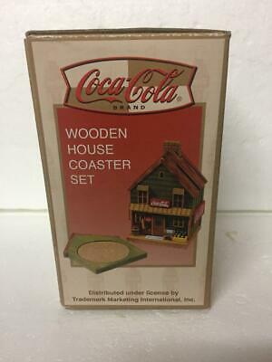 Coco Cola Wooden House 6 piece Coaster Set 1999