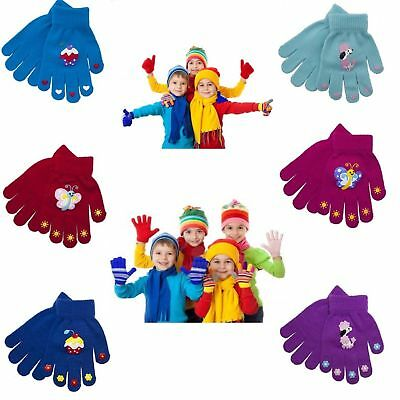 Children Kids Gloves Girls Hot Colors Magic Stretchy Winter Warm Thermal Glove