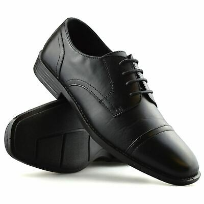 Mens New Leather Memory Foam Smart Casual Lace Up Work Office Oxford Shoes Size
