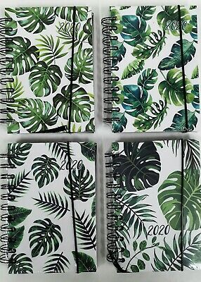 2020 Green Leaf Hardcover Diary - Planner New Year Notebook Address Book