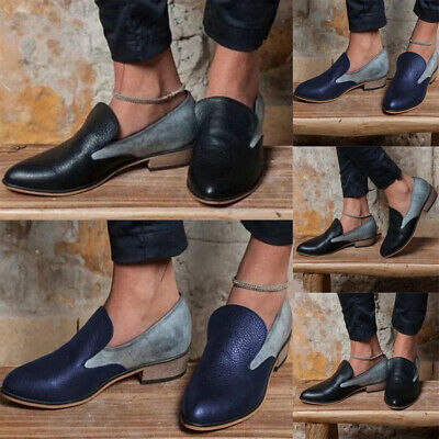 Womens Ladies Loafers Casual Slip On Flats Work Office Smart Pumps Shoes Size4-7