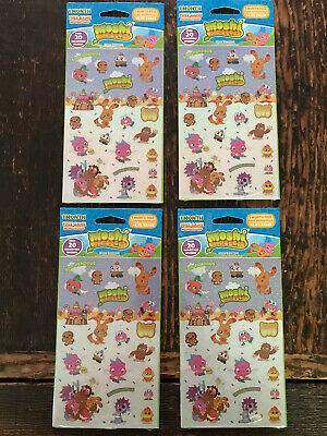 Moshi Monsters Stickers Lot of 4 Sealed Packages 80 Stickers Mind Candy1st Ed