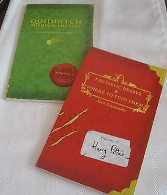 1st Editions Harry Potter Fantastic Beasts & Quidditch Through the Ages Books