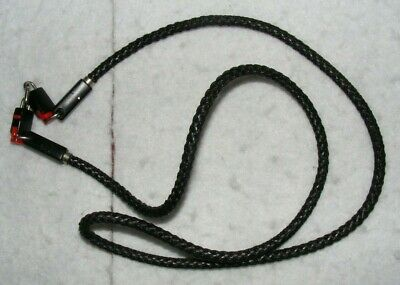Vintage, black braided camera strap. Made in Germany