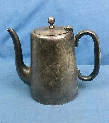 Vintage EPNS Silver Plated 1 Pint Hot Water Jug Or Coffee Pot Marked L & B