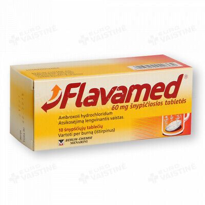Flavamed-For expectorant, dry and mucus cough, Bronchitis-10 tablets