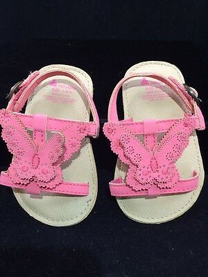 Nwt Baby Gap Girl 3-6 Months White Patent Faux Leather Sandals Adorable!!!