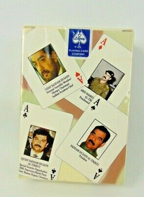 Iraqi Most Wanted Playing Cards, Liberty Playing Card Company, Brand New Sealed