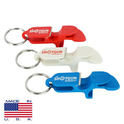 SHOTGUN KEYCHAIN  | Beer Bong for Cans | 3 Color | Red, White, Blue MADE IN USA