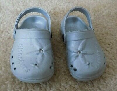 New Toddler Girls Skechers 10318N Twinkle Toes Wishing Boots SIZE 5 Gray I64