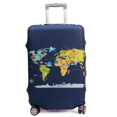 """Maddy's Home Elastica Suitcase Cover Proteggi L (Fit 26""""-28"""" suitcase), Map"""