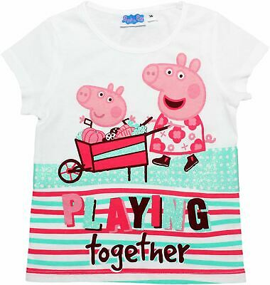 Peppa Pig Girls Playing Together Short Sleeve T Shirt