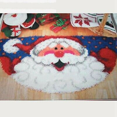 SANTA CLAUS CHRISTMAS LATCH HOOK RUG KIT, BRAND NEW from UK SELLER