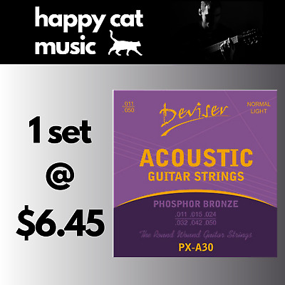 Set Of Acoustic Guitar Strings (Custom Light 11-50) *** FREE POSTAGE ***