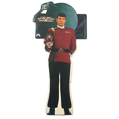 Star Trek V: The Final Frontier 6 Foot Tall Spock Cardboard VHS Display 1989