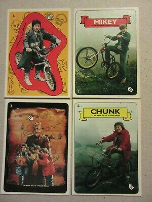The Goonies, Topps, Complete Sticker Set, 1985, 15 Stickers, Puzzle Back, Sloth