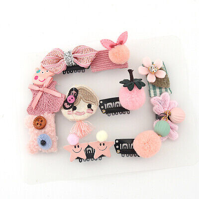 10pcs/set Cute Baby Girls Animal Headwears Kids Flower Hairpins Hair Clip Gifts