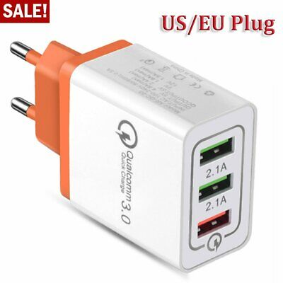 Fast Quick Charge Adapter Universal QC 3.0 USB Hub US EU Plug Wall Power Charger