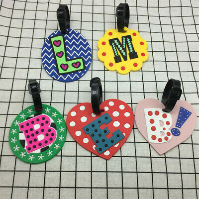 Chic Letter Travel Accessories Luggage Tag Silica Gel Suitcase ID Address Holder