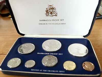 Barbados Proof Set 1976 8coins -minted at Franklin Mint