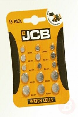 JCB S9715 Watch Batteries - 15 Mixed Pack of 5