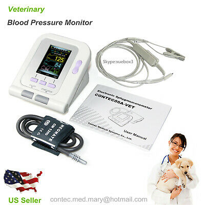 Digital Veterinary Blood Pressure Monitor CONTEC08A, VET NIBP+ Free SPO2 Probe