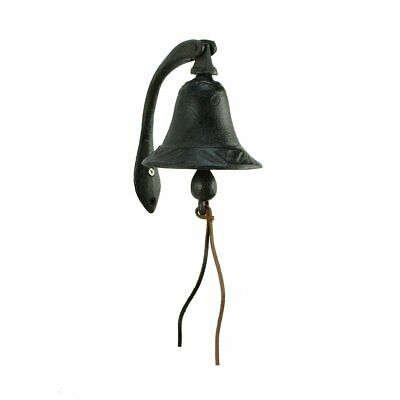 CTW Home Collection Cast Iron Logan Dinner Bell With Bracket Dinner Bell - Feel