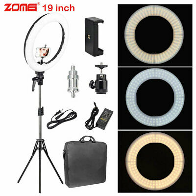 Zomei 18-inch LED Ring Light White Color and Orange Color with Tripod for Photo