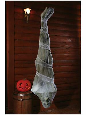 6 ft. Scary Cocoon Corpse Spooky Halloween Fake Body W/ Hook For Hanging Decor