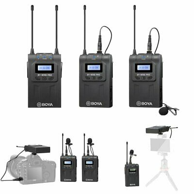 BOYA BY-WM8 UHF PRO-K2 2 Channel Wireless Lavalier Microphone System For ENG EFP