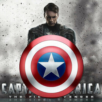 Avengers Captain America Shield Metal Replica Cosplay Prop Toy Bar Decoration