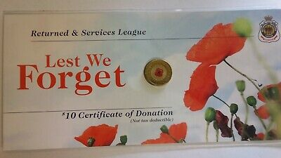 Australian 2012 RED POPPY RSL Coloured $2 Coin. ** Low Mintage **
