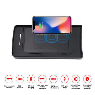 QI Car Wireless SmartPhone Charger Holder Box For Range Rover Evoque Sport 2017
