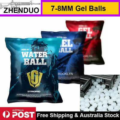 7-8MM Hardened Professional Water Bullets 10,000PCS for Gel Ball Blaster Toy Gun