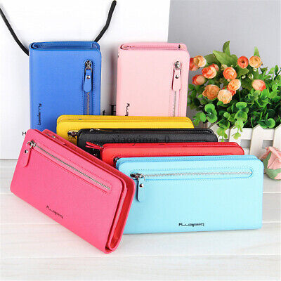 Women Lady Clutch Leather Wallet Long Card Holder Phone Bag Case Purse Handbag X