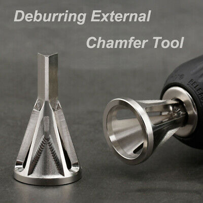 Drillpro Silver Deburring External Chamfer Tool Bit Remove Burr Repairs Tools