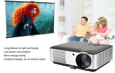 4K HD 1080P Home Theater LCD Android Wifi Wireless Projector Bluetooth HDMI BK