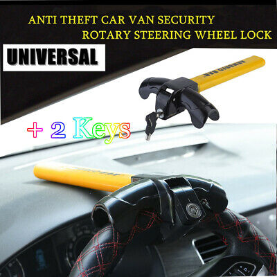 UKB4C Full Face Steering Wheel Lock Clamp Security for Audi A4 00-On
