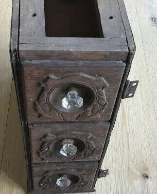 Antique Singer? Sewing Machine Cabinet Drawers & Frame Treadle Storage Vintage