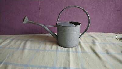 Small Galvanised Metal Watering Can with rose house Garden