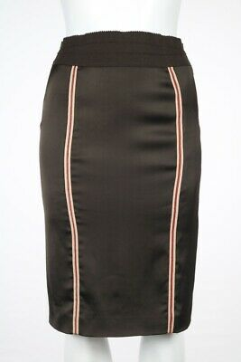 Stella McCartney Womens Skirt Size 40 Brown Striped Pencil Casual Knee Length
