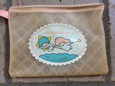 Little Twin Stars Sanrio vintage 1976 made in Japan plastic mini trousse bustina