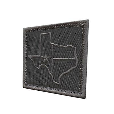 Texas Lone Star Silhouette Cut Out coyote tan embroidered morale hook cap patch