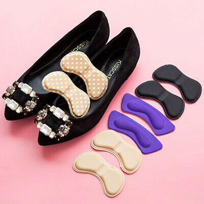2 Pairs Sticky Fabric Sponge Shoe Back Heel Inserts Insoles Pads Cushion Liner