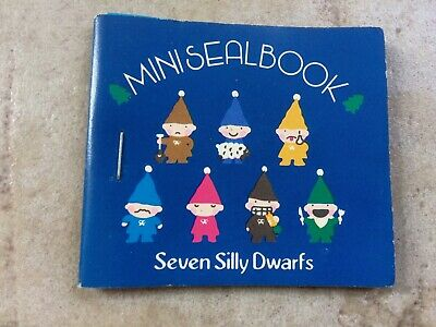 Seven Silly Dwarfs Mini Seal Book Sanrio Made In Japan 1979 Adesivi Stickers