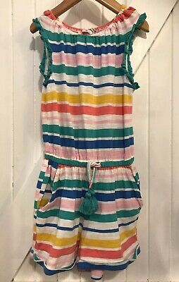 Girls 4-5 Years Fat Face Playsuit Shortie Romper Striped Good Condition Jersey