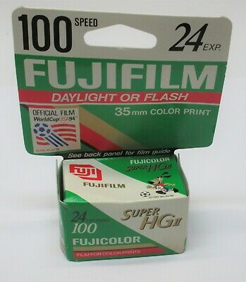 Fujifilm 35mm Super HG II 100 Speed Color Film 1995 24 Exp. NOS Made in Japan