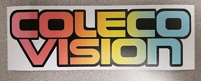 Colecovision Logo sticker. 3.25 x 9.25. (Buy any 3 stickers, GET ONE FREE!)