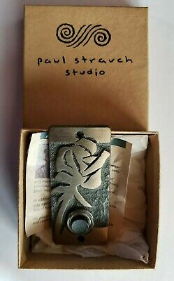 PAUL STRAUCH STUDIOS Hand-Crafted Brass  Door Bell ASIAN Inspired New in Box