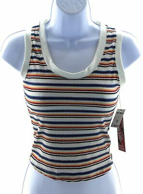Hot Kiss Top Juniors Size Large Multi Colored Striped Sleeveless